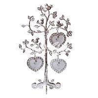 Фоторамка семейное дерево на 3 фотографии «Птички» h-23 см.