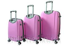 Чемодан Bonro Smile с двойными колесами набор 3 штуки розовый, фото 2
