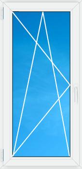 Вікно в.1,46 *ш.0,86 м металопластикове одностулкове біле відкривне , фото 2