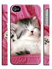Чехол для iPhone 4/4s/5/5s/5с, Котенок