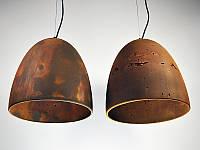 Бетонный светильник ЛЮССИ (ржавый металл)