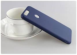 Чехол Huawei P Smart / Enjoy 7S / FIG-LX1 / FIG-LA1 / FIG-LX2 силикон soft touch бампер темно-синий