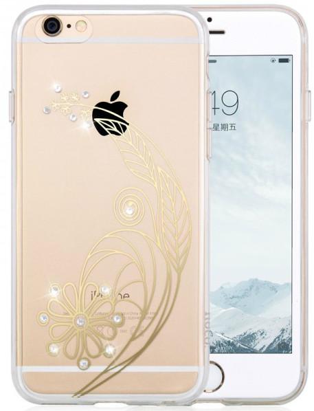 силиконовый чехол с рисунком и камнями для iphone для iphone 6 plus / 6s plus
