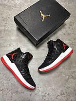 Мужские кроссовки Nike Jordan Melo M13 черные топ реплика, фото 2