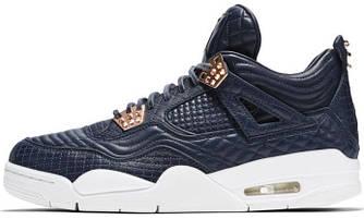 Мужские баскетбольные кроссовки Air Jordan 4 Premium Navy White