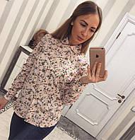 Рубашка женская с цветочным принтом