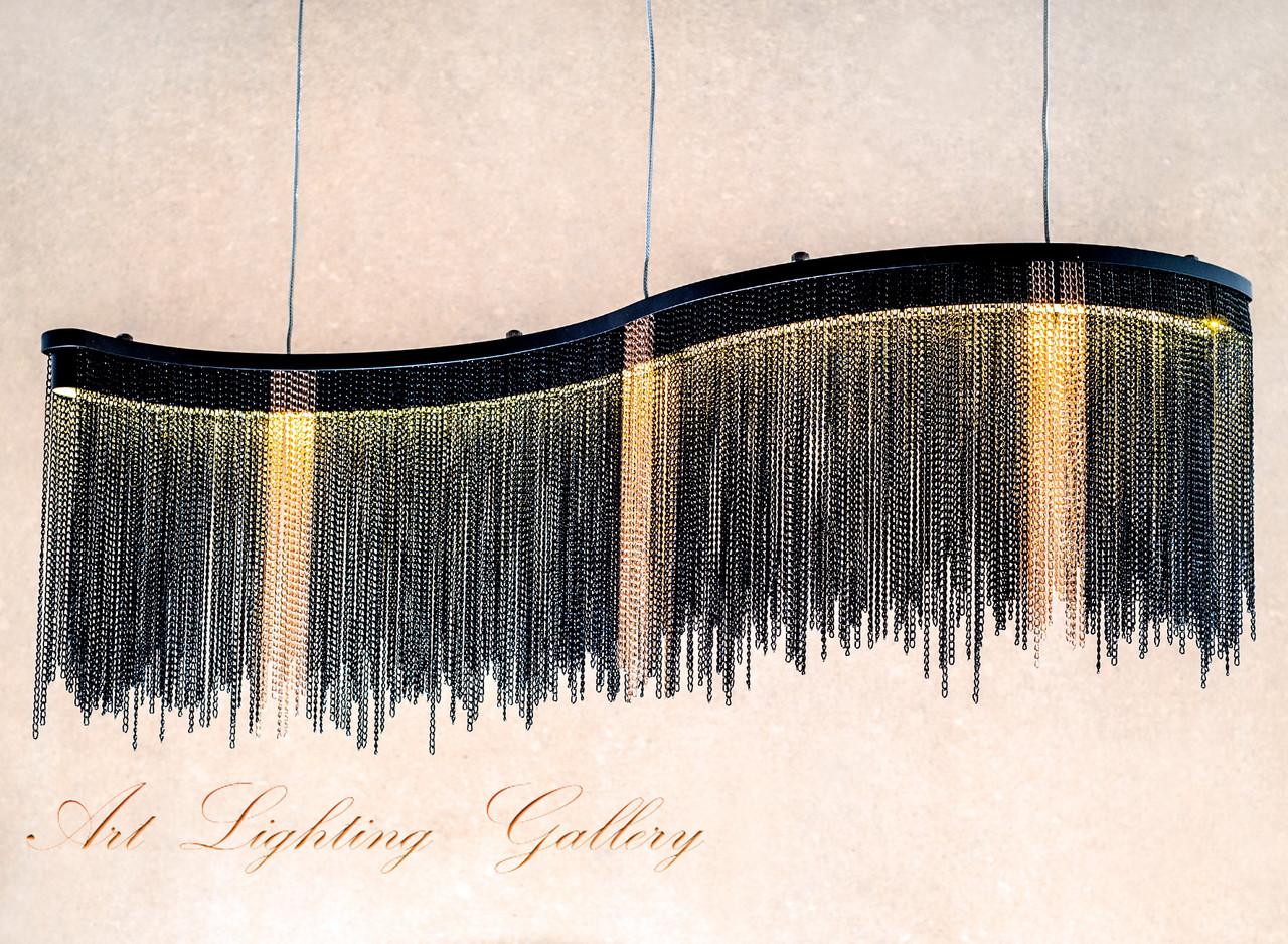 Подвесная светодиодная прямоугольная люстра 1708
