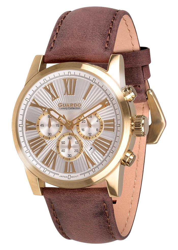 Чоловічі наручні годинники Guardo S01578 GWBr