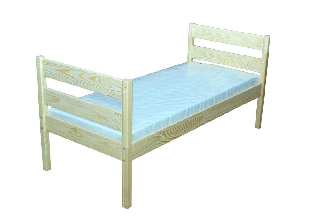 Кровать из натуральной древесины, без матраса в детский сад, школу.