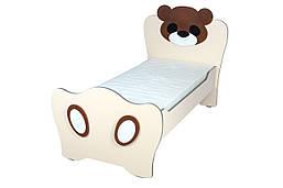 Кровать детская без матраса «Медвежонок» в детский сад, школу.