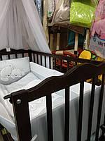 "Дитяче ліжечко  Кузя ""Анастасія"" венге з шухлядою."