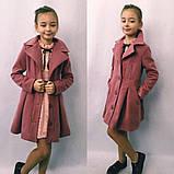 Детское кашемировое пальто в размерах 128-146, фото 2