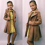 Детское кашемировое пальто в размерах 128-146, фото 4