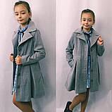 Детское кашемировое пальто в размерах 128-146, фото 5
