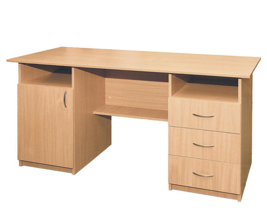 Стол письменный, 1-дверный, с тремя ящиками для учителя
