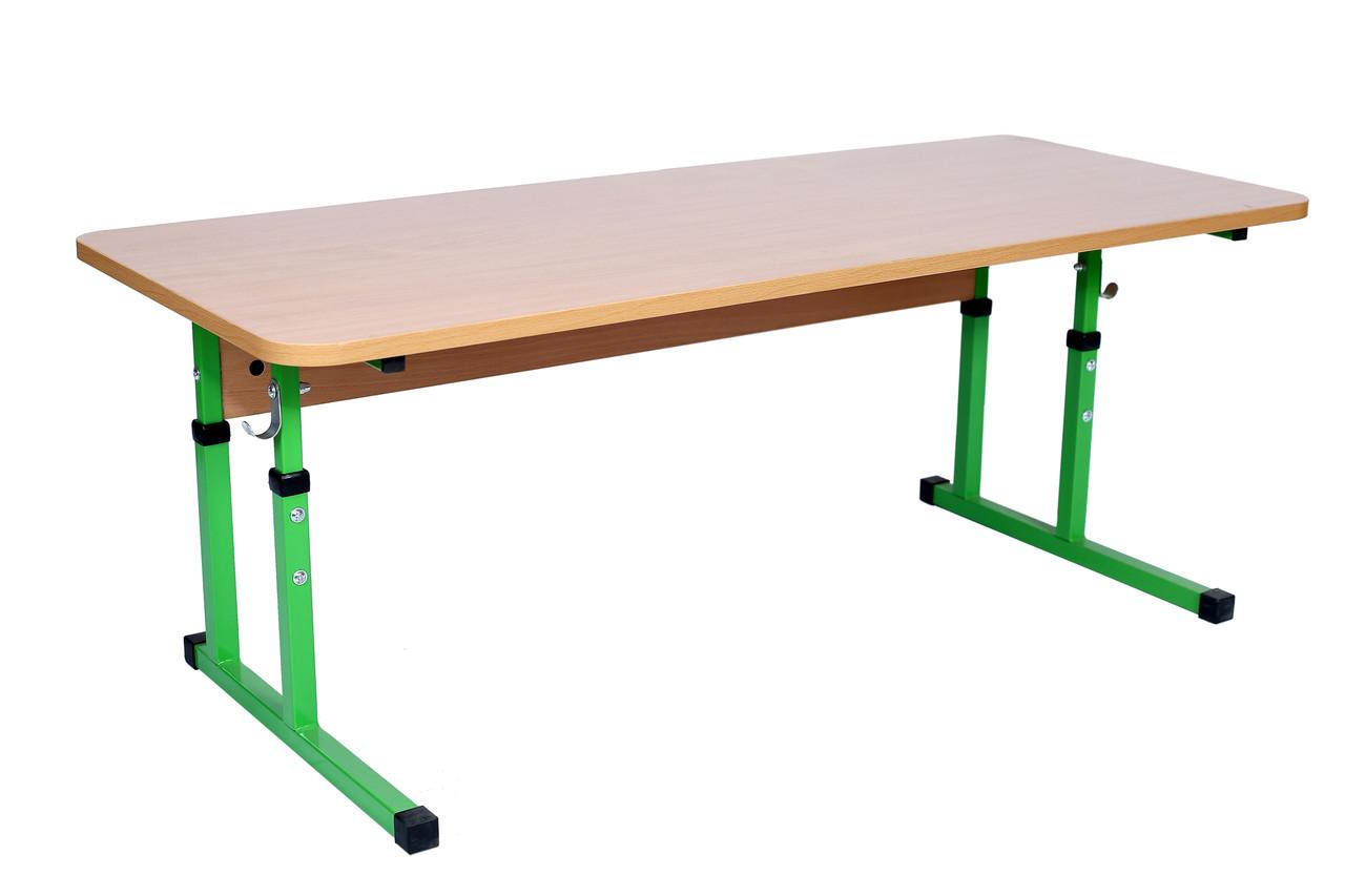 Стіл дитячий 2-місний без полиці, регульований №1-3 в дитячий садок, школу.