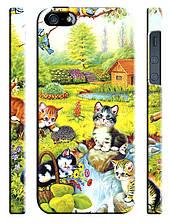 Чехол для iPhone 4/4s/5/5s/5с, Кошки акварель