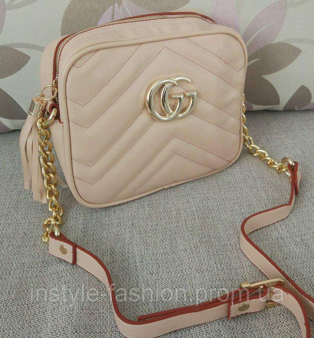 ed835235b384 Сумка-клатч Gucci Гуччи через плечо цвет пудра  купить недорого ...