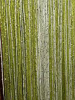 Двухцветные шторы нити (кисея) с люрексом, фото 1