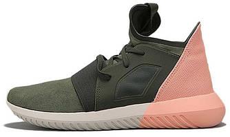 """Мужские кроссовки Adidas Tubular Defiant """"Color Contrast"""" Haki/Pink, адидас тубулар"""