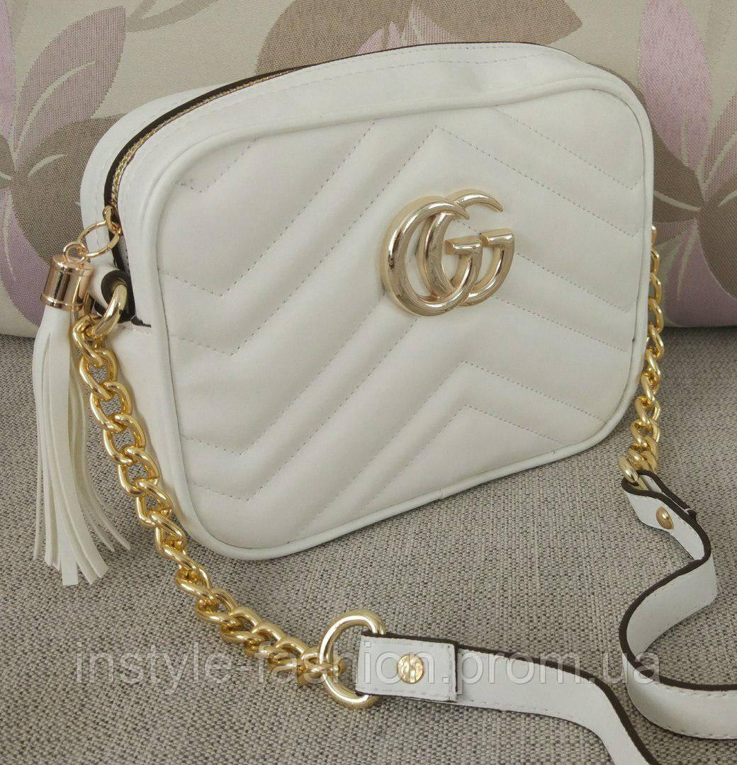 9ae1ed7d2538 Сумка-клатч Gucci Гуччи через плечо цвет белый: купить недорого ...