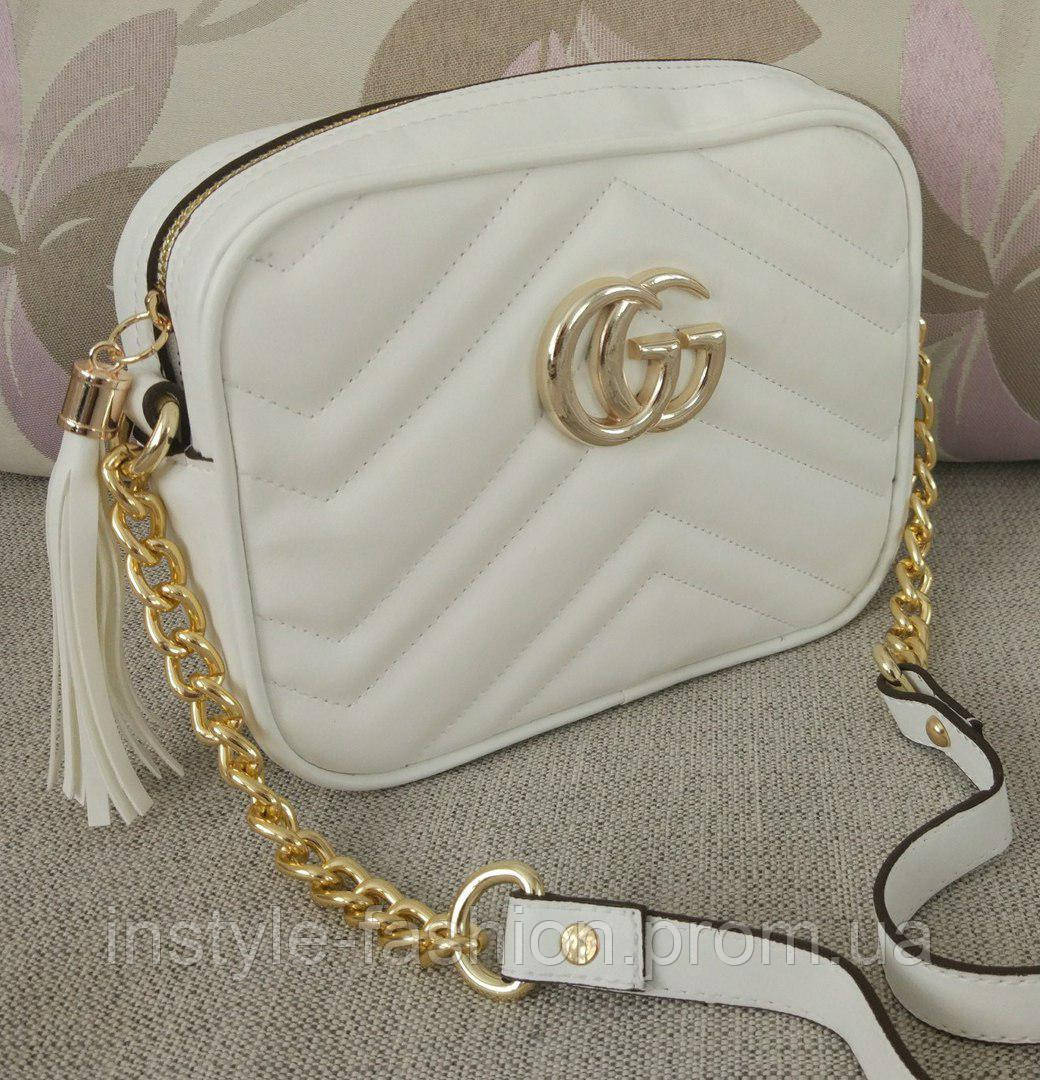 d6e5da3ba93b Сумка-клатч Gucci Гуччи через плечо цвет белый - Сумки брендовые, кошельки,  очки