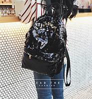 Рюкзак с пайетками черный, фото 1