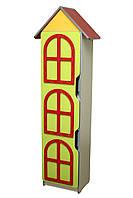 """Стенка детская """"Цветочная поляна"""" №8 """"Башня"""" с дверью в детский сад, школу."""