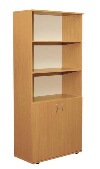 Шкаф книжный полузакрытый 2-дверный (глубина 400мм)