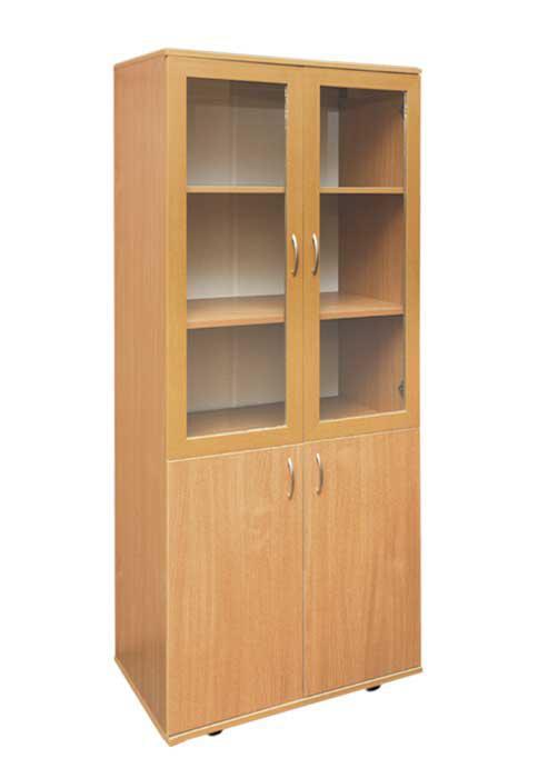 Шкаф книжный со стеклянными дверцами (глубина 400мм)