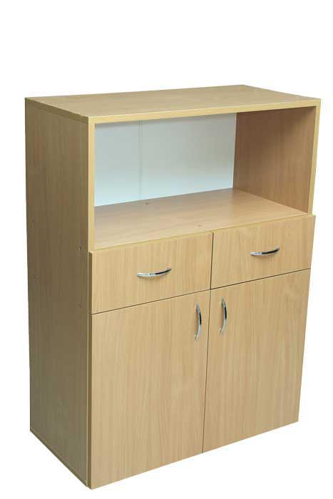 Шкаф низкий с ящиками и нишей (глубина 400мм)