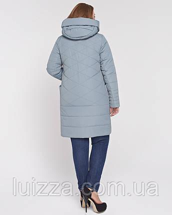 Женская куртка из комбинированной ткани 48-58р полынь, фото 2