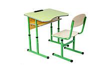 Комплект стол ученический 1-местный с полкой антисколиозных, №4-6 + стул Т-образный, №4-6