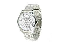 """Часы наручные """"Геометрия"""", браслет из нержавеющей стали, металлик"""