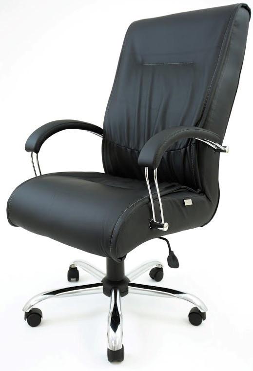 Кресло Клиффорд хром, кожзам черный (фото 2)