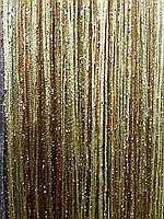 Шторы-нити трехцветные с люрексом, фото 1