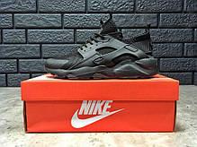 Мужские кроссовки Nike Huarache черные топ реплика, фото 2