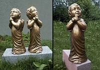 Скульптура ангелочка из бетона h=65 см, фото 1