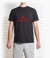 """Мужская  черная  футболка Джордан """""""" В стиле Jordan """""""""""