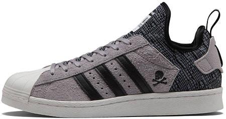 мужские кроссовки Nbhd Bape Adidas Superstar80s Boost Grey продажа