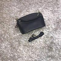 Брендовая маленькая сумка черная натуральная кожа