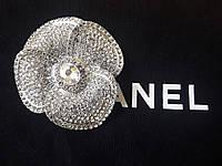 Брошь цветок с камнями сваровски, фото 1