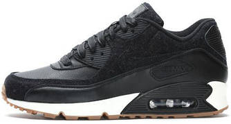 Мужские кроссовки Nike Air Max 90 Premium Black Sail, найк, айр макс