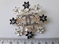 Брошь цветок с камнями, фото 1