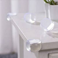 Уголок силиконовый на угол стола круглый 4 шт в наборе