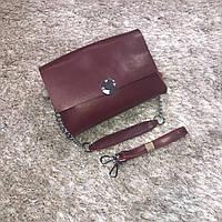Брендовая маленькая сумка красный натуральная кожа