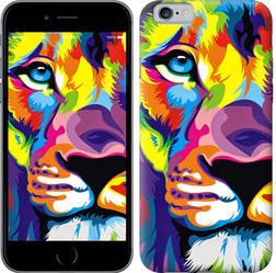 """Чехол на iPhone 6 Разноцветный лев """"2713c-45-328"""""""