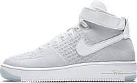 Мужские кроссовки Nike Flyknit Air Force 1 Ultra White, найк аир форс