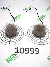 Меховой помпон Норка, Серый, 4 см, пара 10999, фото 2