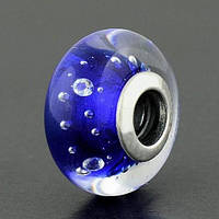 """Шарм бусина Pandora (Пандора) """"Муранское стекло Синие капли"""""""